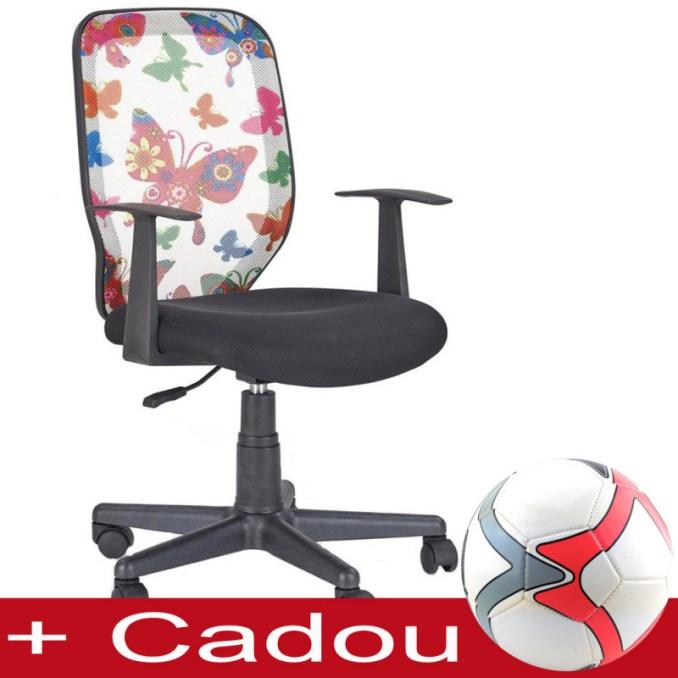 scaun birou cu fluturi