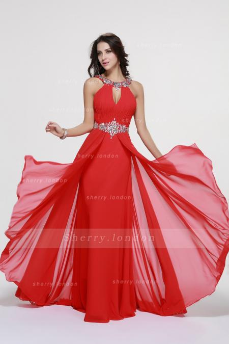 red prom dress