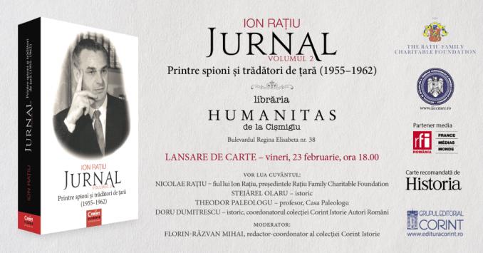 Lansare Jurnal, volum 2 de Ion Rațiu