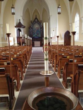 Imm Sanctuary Font to Altar