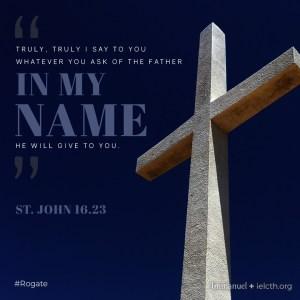 St. John 16.23