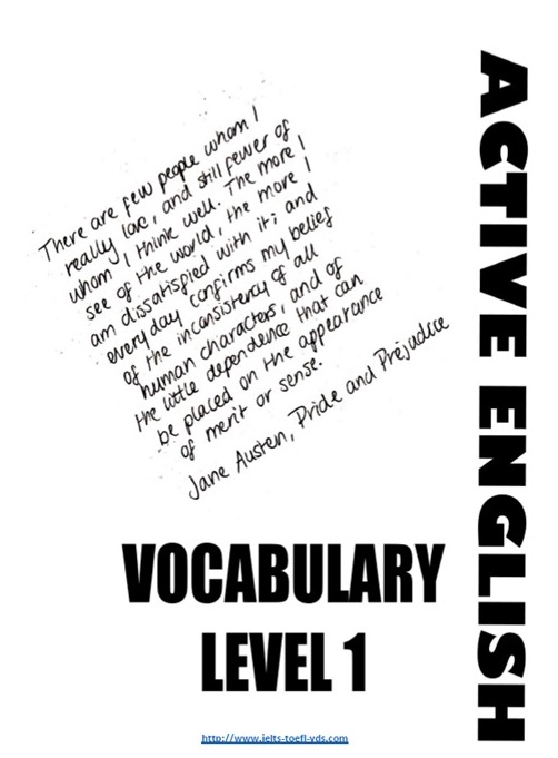 Vocabulary Book (level 1-A1-A2)