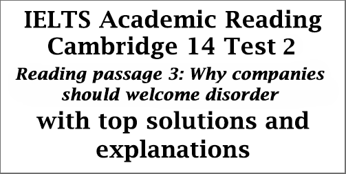 IELTS Academic Reading: Cambridge 14, Reading Test 2: Passage 3; Why companies should welcome