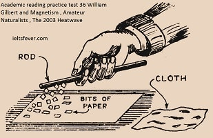 Academic reading practice test 36William Gilbert and Magnetism ,Amateur Naturalists ,The 2003 Heatwave ielts exam