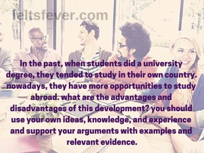 In the past, when students did a university degree, they tended to study