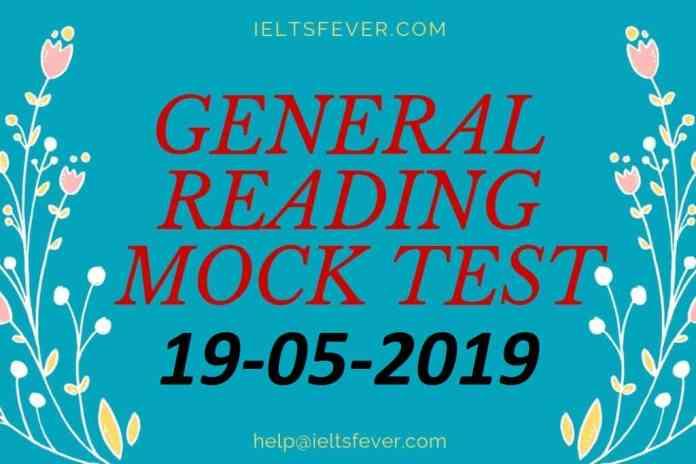 General Reading mock Test 19-05-2019