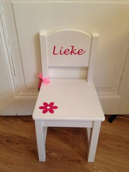 stoeltje met naam Lieke