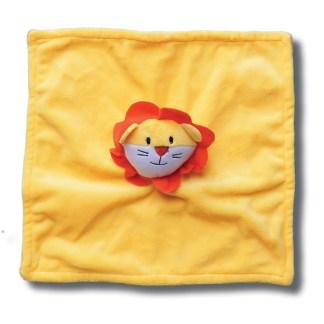 knuffeldoek geel met leeuw