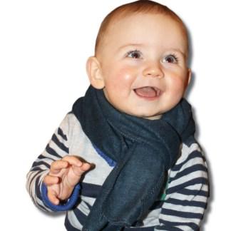 donlerblauwe kindersjaal fleece