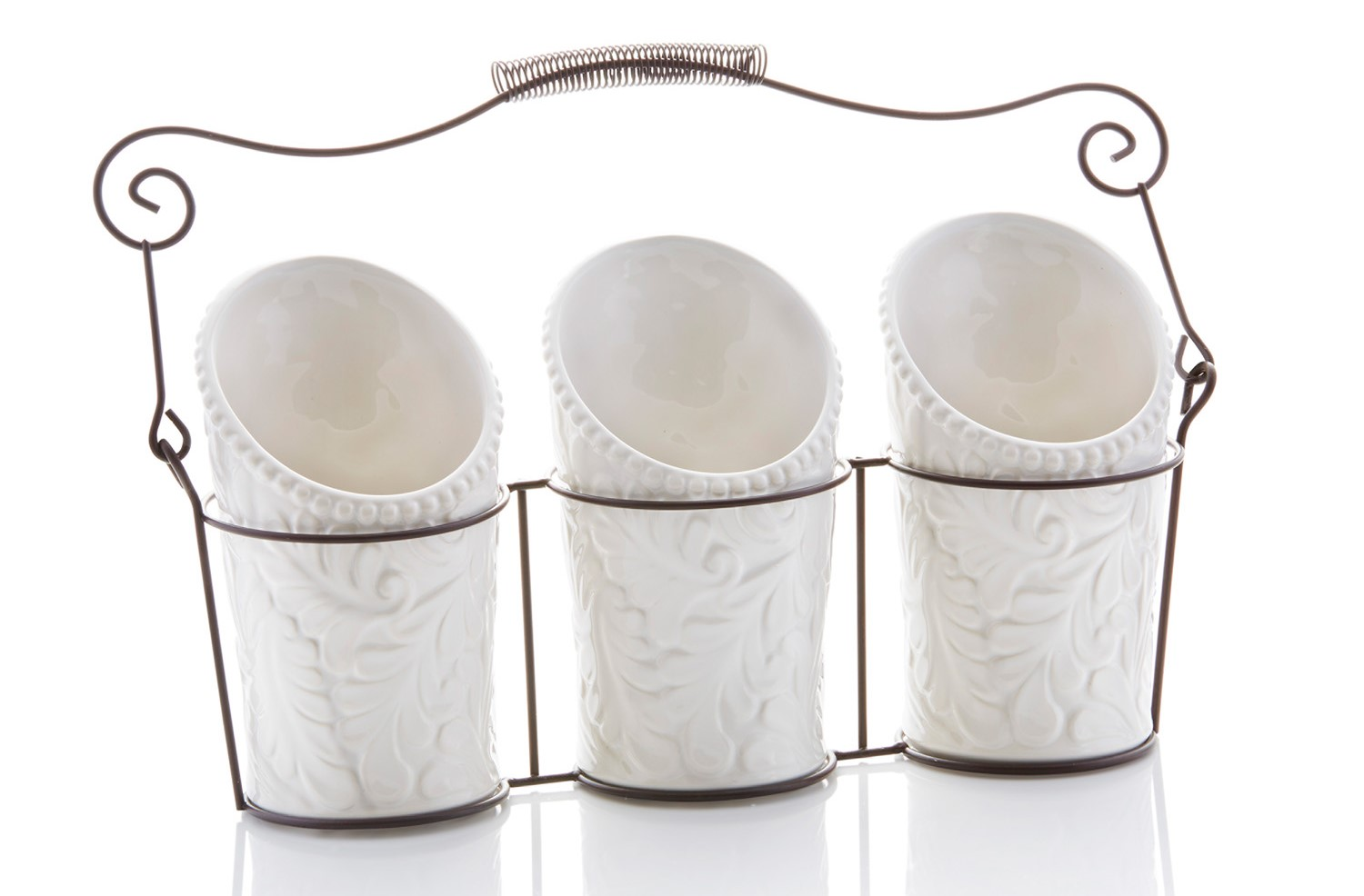 kitchen tool crock nook tables 4 pieces 3 ceramic utensil holders dia x features benefits set of