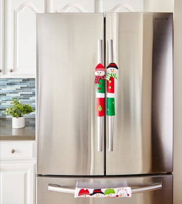 Snowman Kitchen Appliance Handle Covers- Set of 3 ...