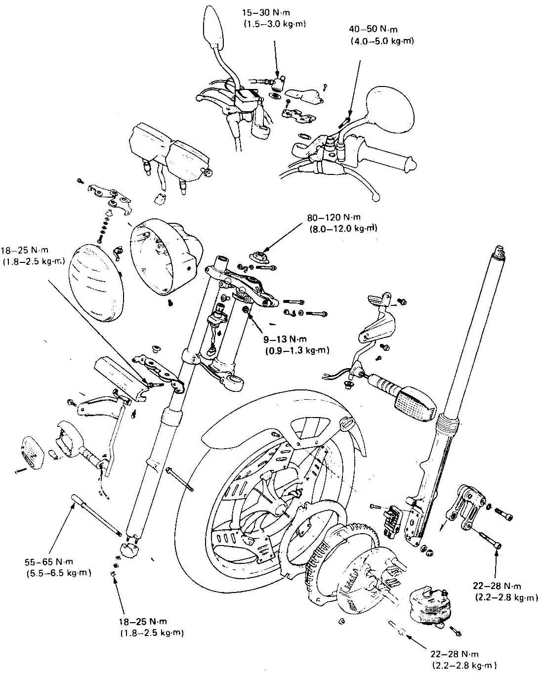 Honda CBX 400-550 F Technical Page