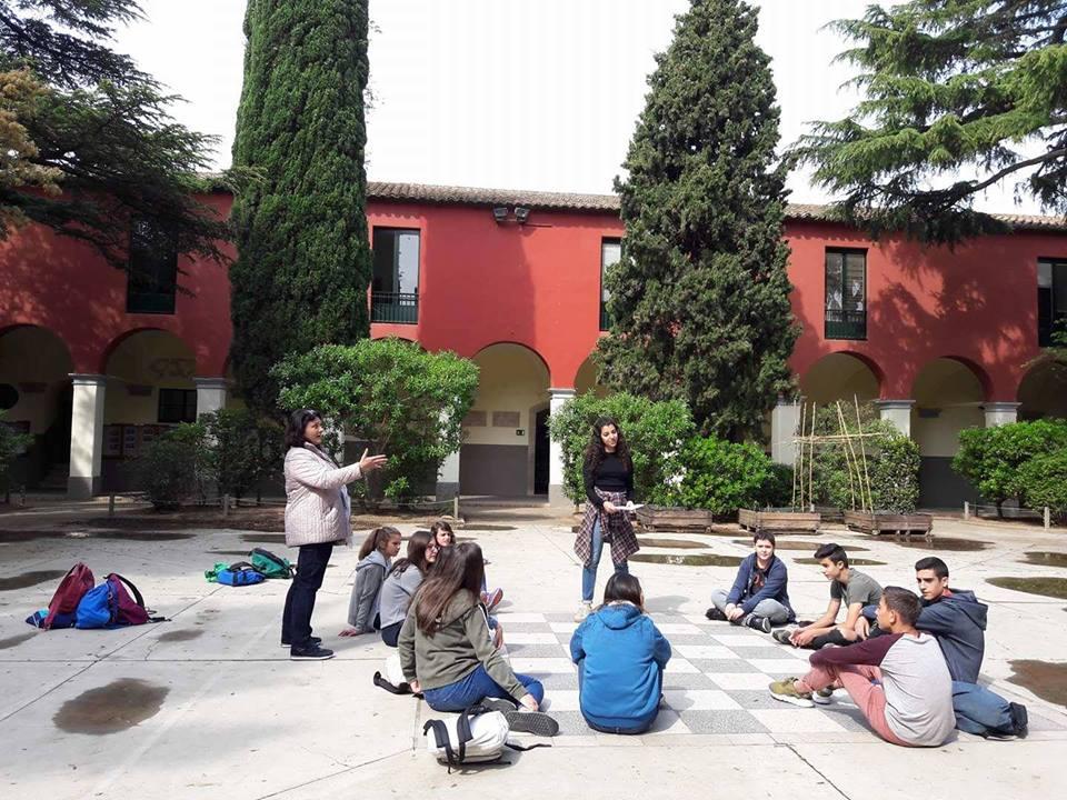 visita d'alumnes del college Le Riberal de Perpinyà