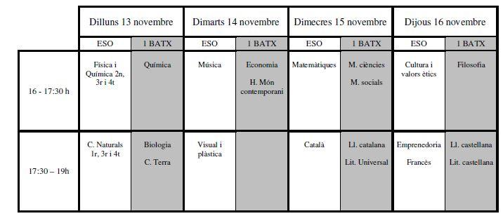 calendari pendents novembre
