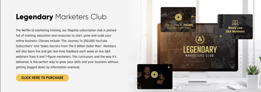 Legendary Marketer Training - Marketers Club