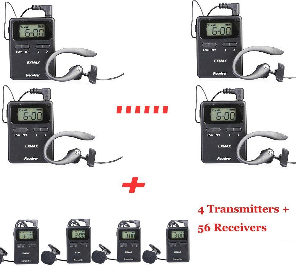 EXMAX 815-823MHZ Wireless Tour Guide System/Monitoring