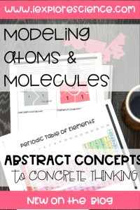 Modeling Atoms and Molecules: Making Abstract Concepts Concrete