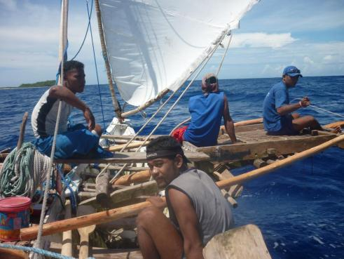 Ifalik boys navigating the pacific - arriving West Faiyew.