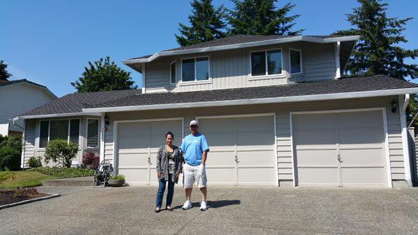 New Home Owners Cal and Rose