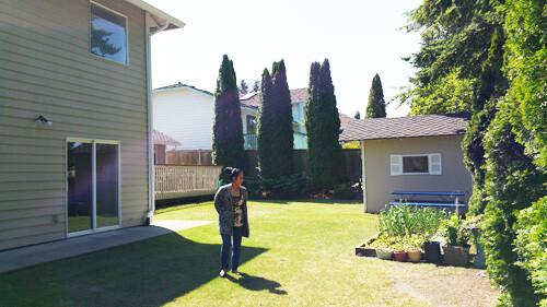 Rose inspecting the backyard...