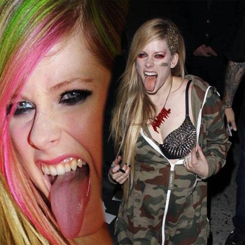 CELEBS Striking Their Tongue Out Slide 6