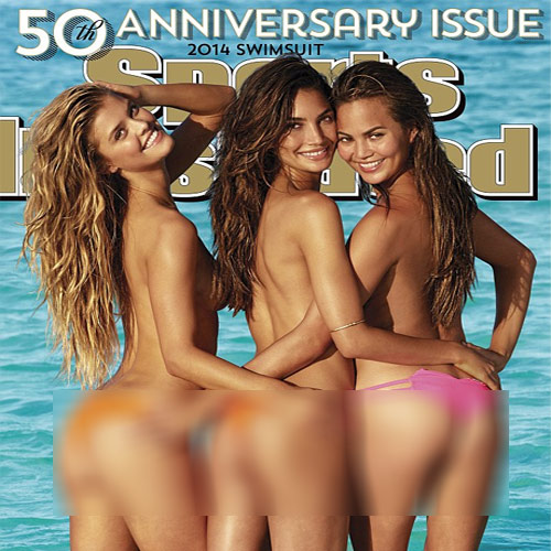 HOTTEST mag Cover of 2014.., most hotly anticipated magazine cover,  2014,  magazine cover 2014,  sports,  sports illustrated 2014 swimsuit issue,  swimsuit,  50th anniversary,  hotly,  magazine cover of the year,  bikini,  beauties,  lily,  aldridge, chrissy,  teigen,  nina,  agdal,  topless,  hot