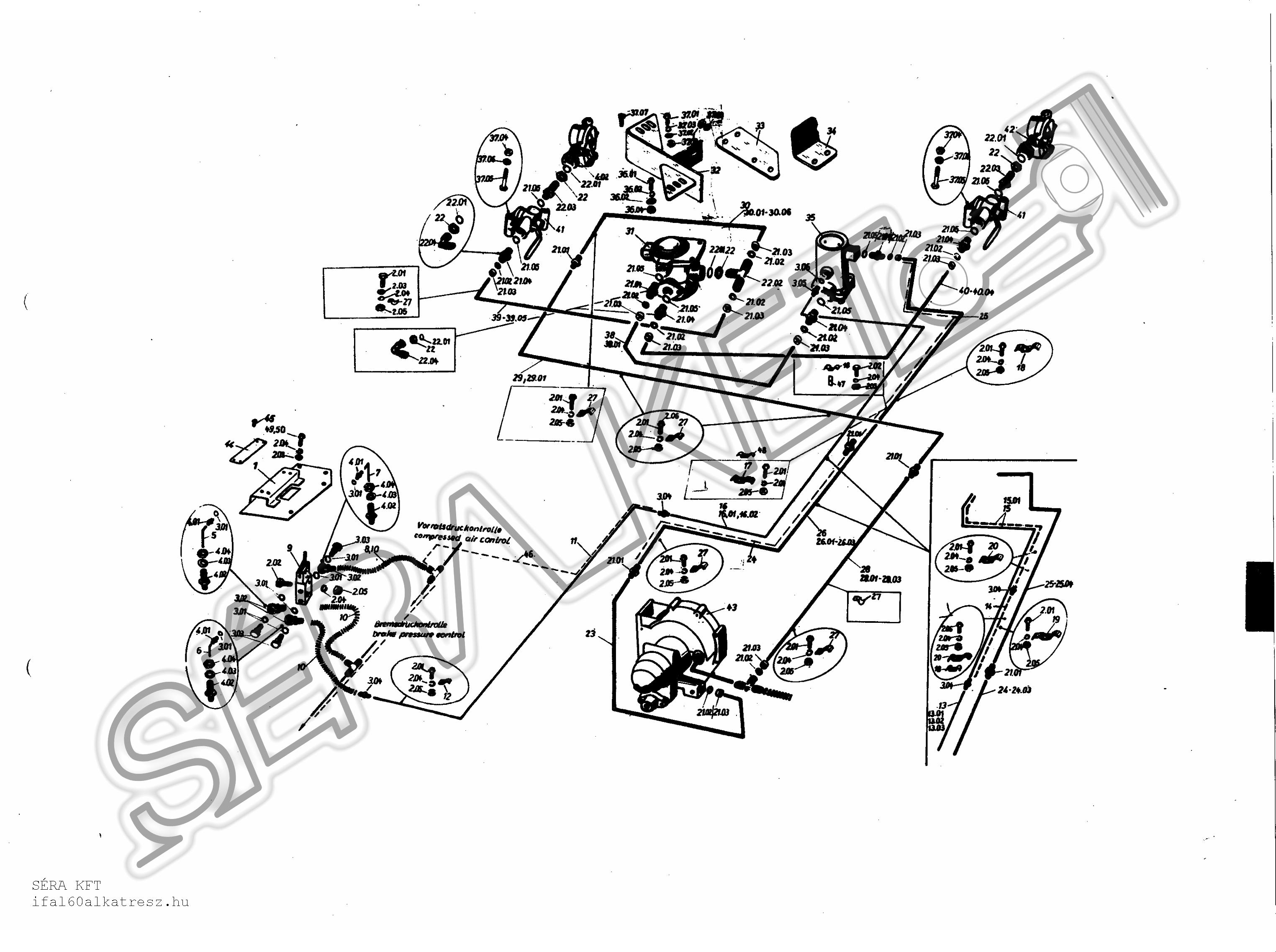 Block diagram of control of trailer brake
