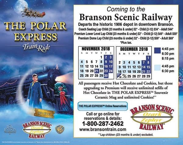Polar Express Train Branson Scenic Railway