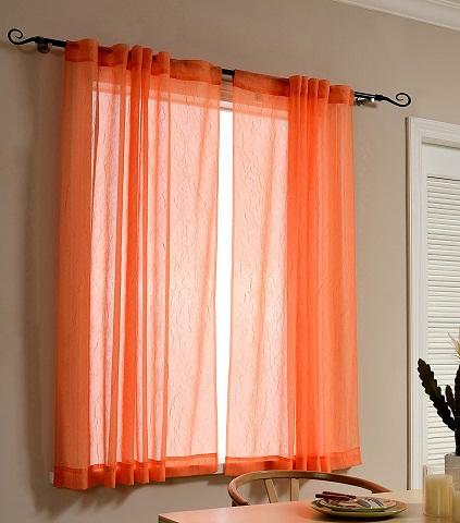 modern orange curtain designs
