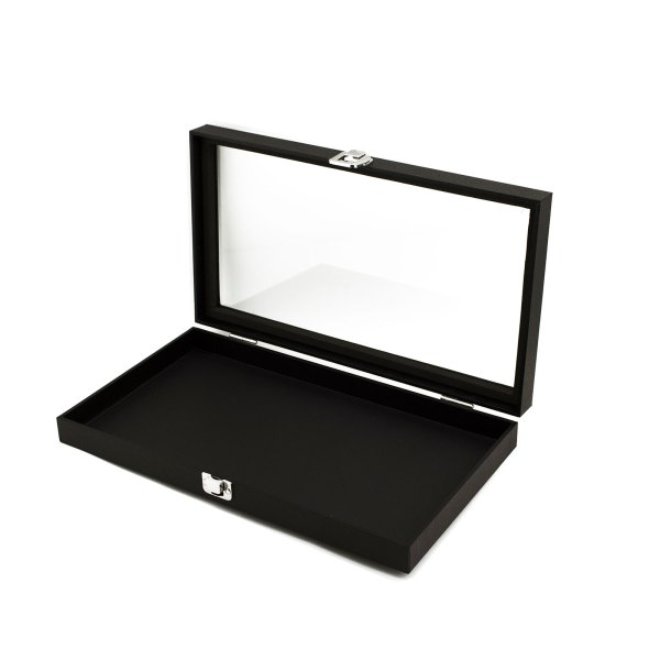 Jewelry Showcase Display Case Glass Top Portable Travel