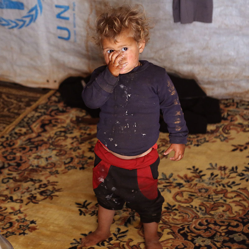 iF Charity - Palestinian Boy - Child in a refugee tent