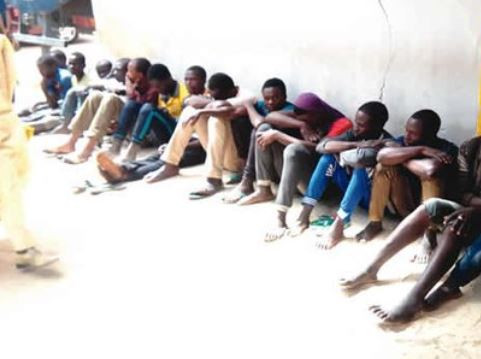 Kano youths Arrested by the police