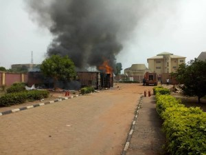 fire burns election materials in Anambra