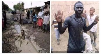 Man dies after drinking gutter water because of buhari's win.