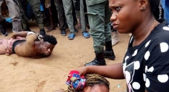 Photos:Young lady rescued from the hands of ritualists by Police in Delta State