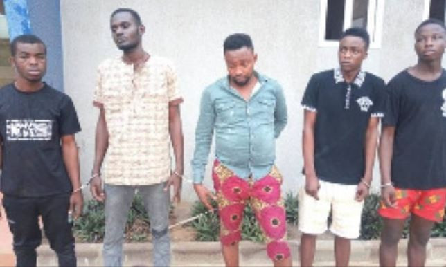 Five Nigerians arrested in Ghana for raping a lady in her husband's presence