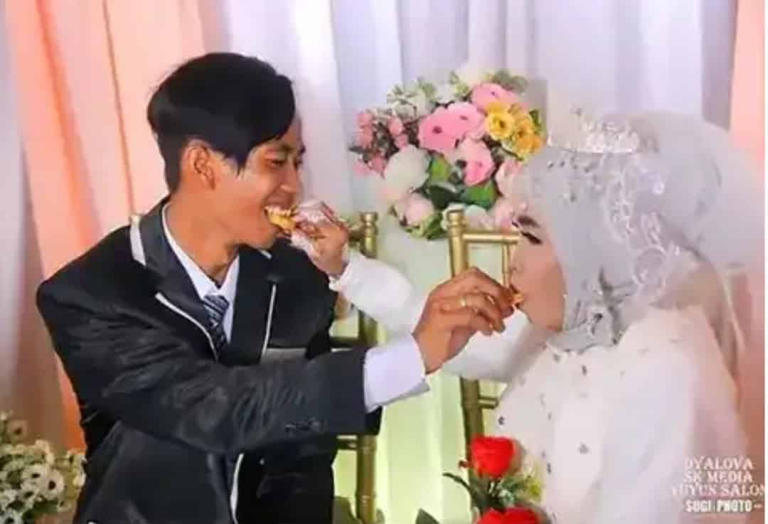 A 24-year old man marries his 64-year old grandmother who had adopted him..(Photos)