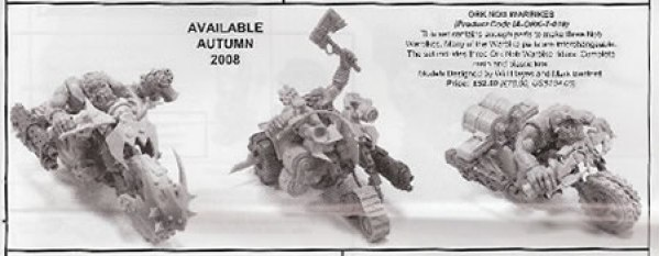 A trio of Forge World Ork Nob Bikers