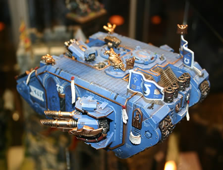 Marneus Calgar of the Ultramarines' Land Raider