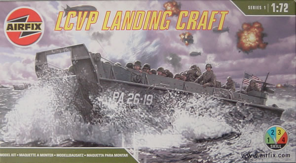 1/72nd Airfix kit of the WWII LCVP Landing Craft