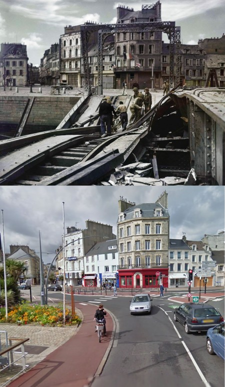 Then and Now - Cherbourg July 27th 1944