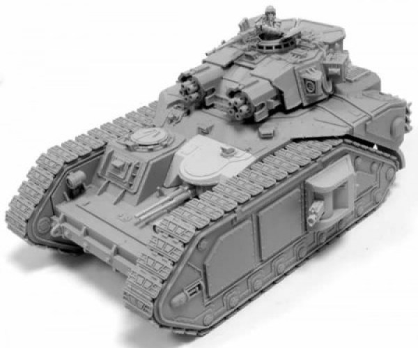 Imperial Macharius Vulcan Heavy Tank armed with a Vulcan Mega Bolter,