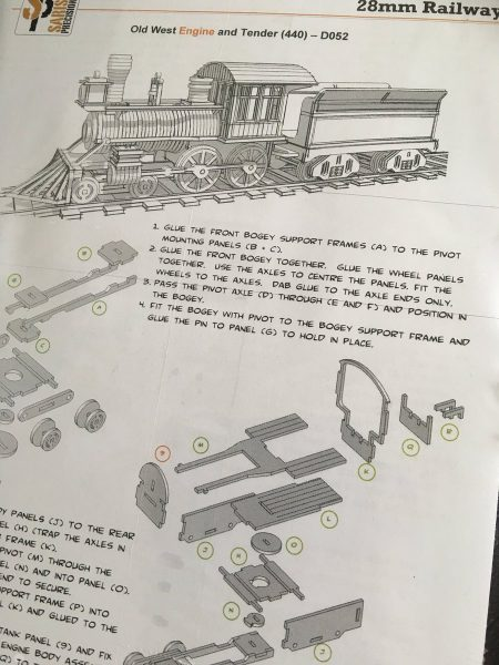 X sarissa precisionX old west engine and tender