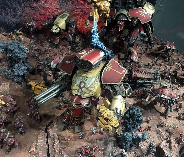 Forge World Reaver Titan on display at Warhammer World.