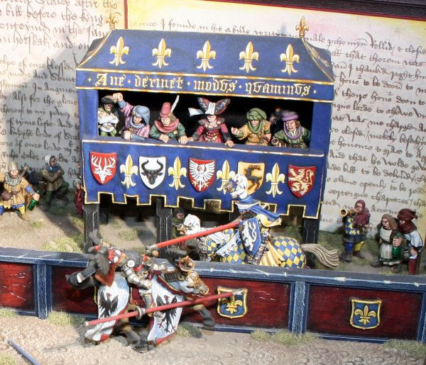 Dave Andrews' Bretonnian Joust diorama 1996