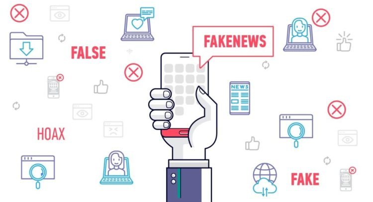 Fake news on phones and laptops