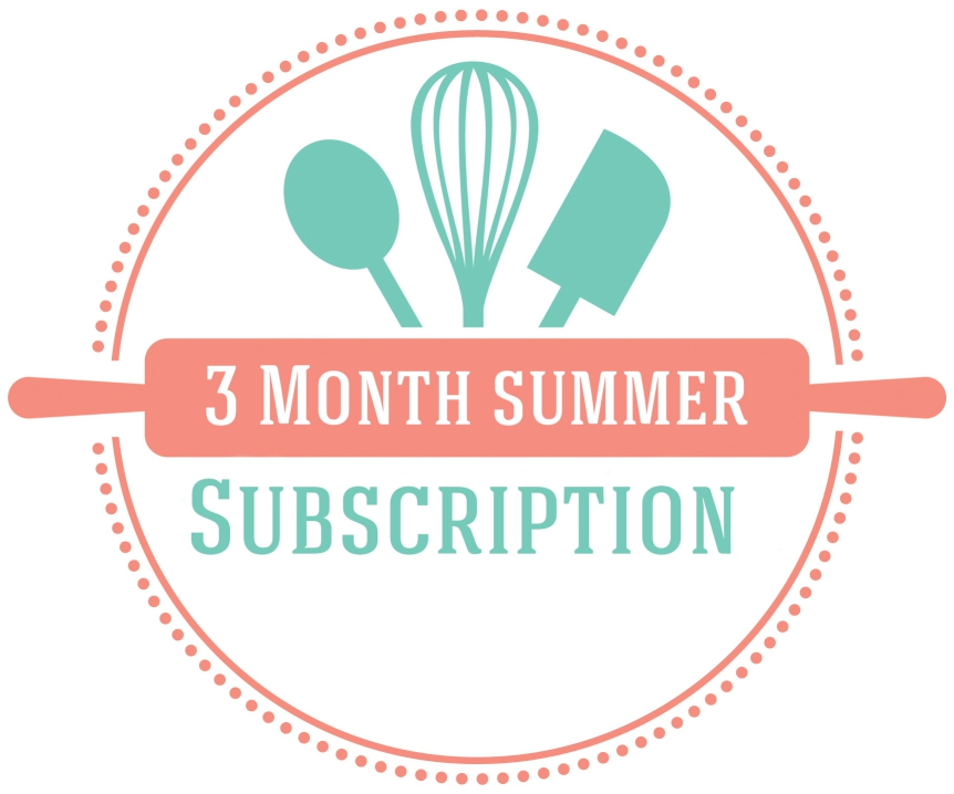 3month summer baking subscription logo