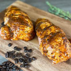 AVO Lafiness Coffee and Black Pepper Butchers' Marinade on Chicken Supreme