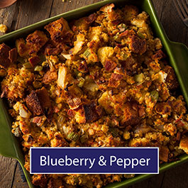 Blueberry and pepper stuffing mix