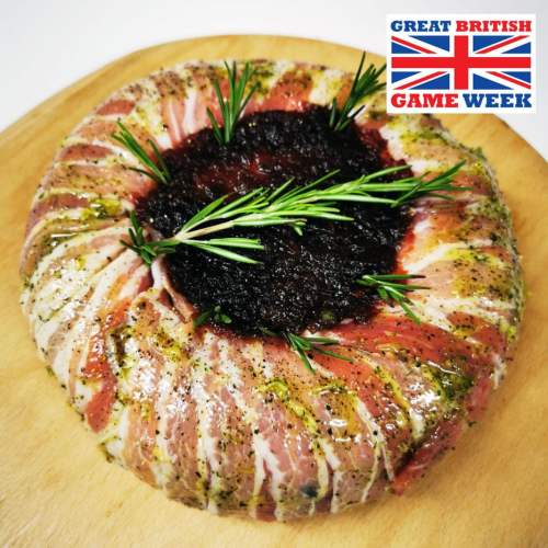 Festive Meatloaf Mixed Game Wreath